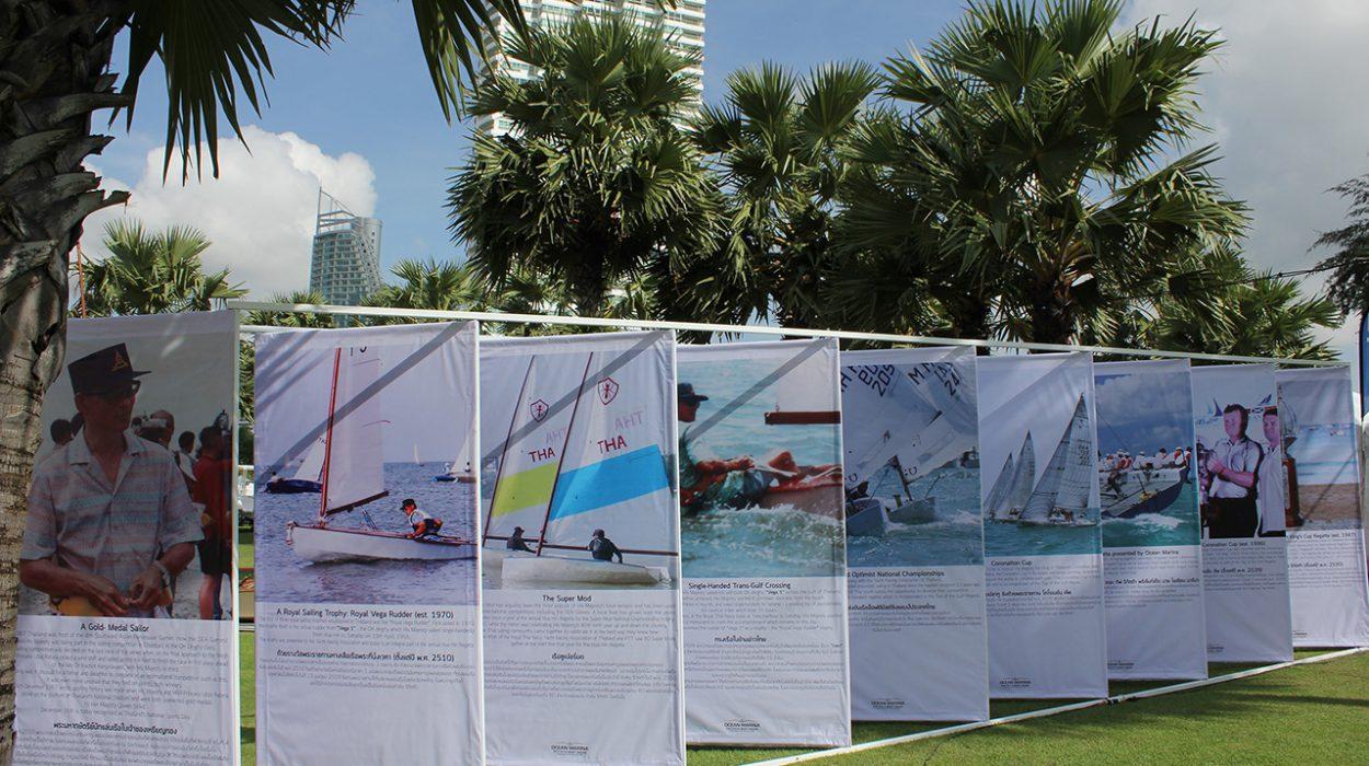 His Majesty King Rama IX Sailing Exhibition at Ocean Marina Pattaya Boat Show 2016.